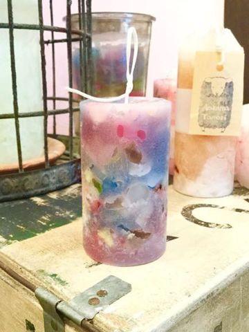 Sold out  ベリー色の海の香り ピラーキャンドル