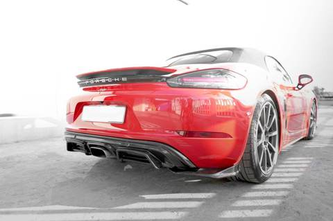 PORSCHE 718 Boxter/ Cayman REAR DIFFUSER EXTENTION