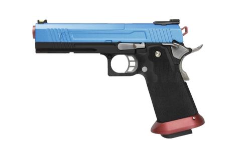 【ベース素材AW社】ハイキャパ 5.1 ハイスピード ガスブローバック BLUE 10歳以上用モデル【海外製品/受注生産/10歳以上用エアガン】