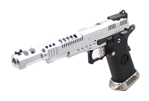 【ベース素材AW社】ハイキャパ 5.1 Razor Catタイプ 樹脂スライドバージョン SV 10歳以上用モデル【海外製品/受注生産/10歳以上用エアガン】