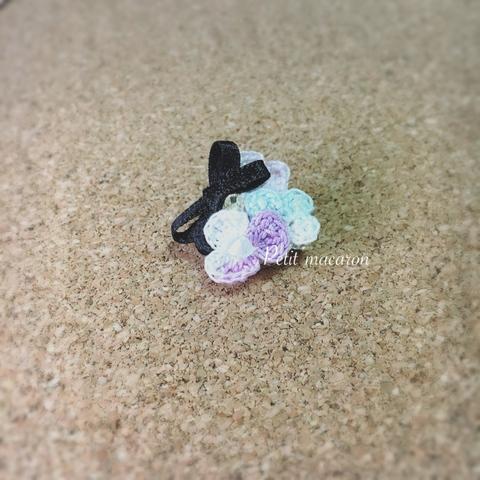 レース編みの小花ブローチ03