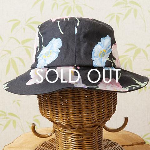 綿プリント 花柄帽子