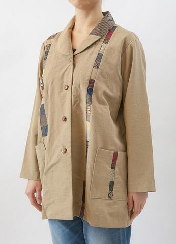 着物リメイク-正絹紬コート