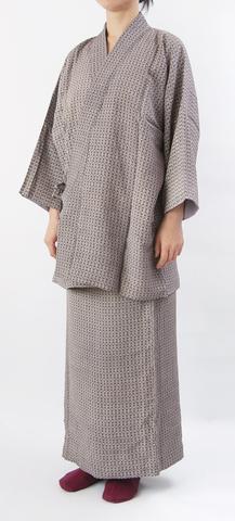 着物リメイク-江戸小紋の作務衣(裏付き)