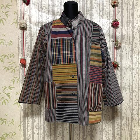 会津木綿パッチワークジャケット