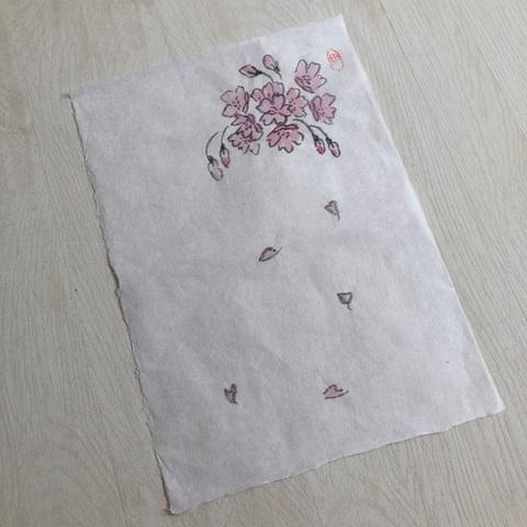 手書き便箋 大門和紙(桜)