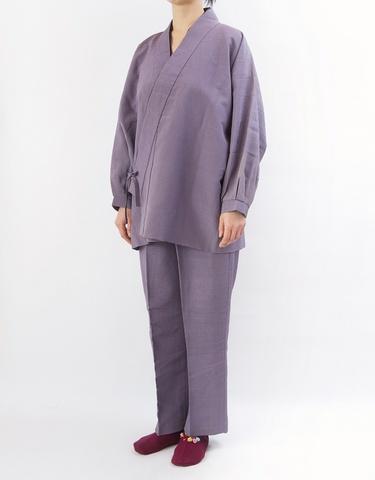着物リメイク-裏付き作務衣