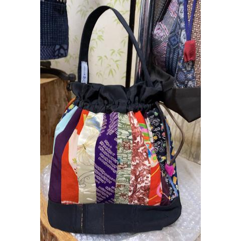 パッチワーク巾着バッグ(1)