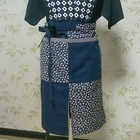 桜小紋 ロングサロン