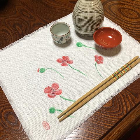 日本画 ランチョンマット(ひなげし)500円