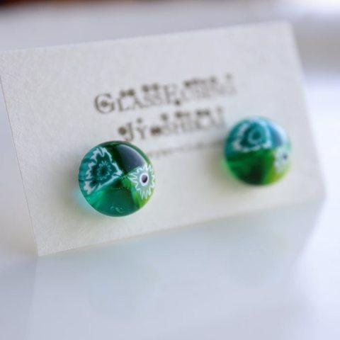 ★セール品16★モレッティ・ミルフィオリ ガラスピアス