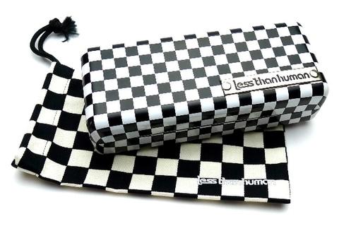 【白黒チェックケース】レスザンヒューマン 白黒チェックケース