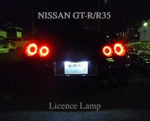 NISSAN GT-R/LED(SMD5050) ナンバー灯/GTR R35 (2007~)