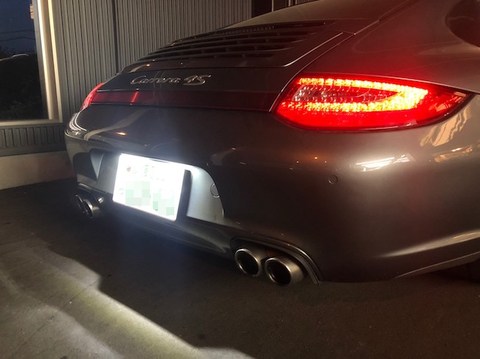 ポルシェ 911カレラ(997)ライセンスランプ(ナンバー灯)3030 monster LED/PORSCHE 997型 911 Carrera 4S