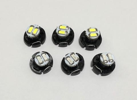 T4,2(M型)monster 3014 H.L LED(2pcs) 交換用LEDバルブ/6個セット(白・青)