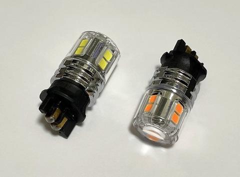 ウルトラ 3030 LED(15pcs) 900LM/PW24W・PWY24W(PYW24W)/CANBUSキャンセラー内蔵/2個セット(白・橙)