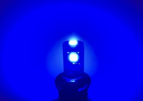 T10/Epistar 3030 monster LED(3pcs)/290LM/CANBUS キャンセラー内蔵/ブルー(青)2個セット [T10最強の光束]