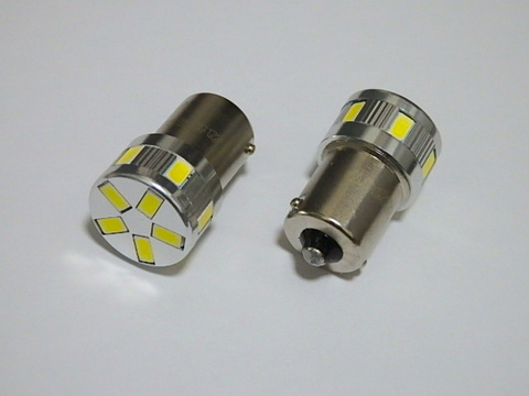 G18 (BA15S) シングル/5730 Power LED(11pcs) 500LM(6000K)