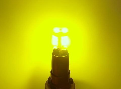 T10/Epistar 3030 Power LED/300LM/ゴールドイエロー(レモン色)2個セット [T10最強の光束]