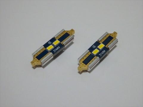 T10 x 31mm/Samsung 3623 Power LED/160LM/6000K(ちらつき点灯/ゴースト点灯/幽霊点灯防止用)単品 1個