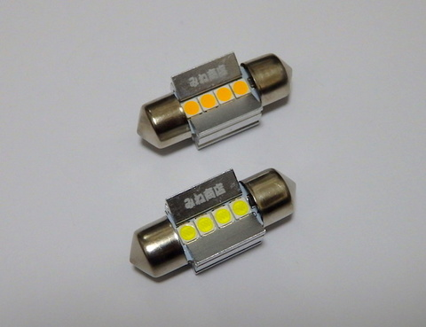 T10 x 31mm/Epistar 3030 monster LED(300LM)/単品 1個(昼白色 6000K/レトロ電球色 4000K)