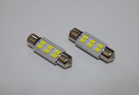 T10 x 37(36)mm/1,8W POWER 2835 LED/ホワイト 6000K/単品 1個