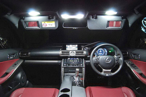LEXUS IS350/300h/250/200t 専用 2,5W POWER COB LED ルームランプセット GSE3#/AVE3#/ASE30(前期/後期)
