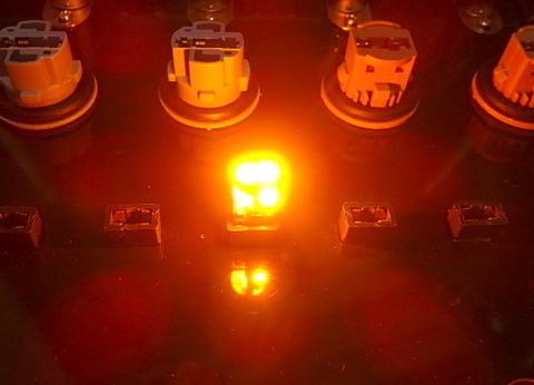 T10/Epistar 3030 Power LED/250LM/アンバー(橙)2個セット [T10最強の光束]