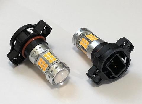 [強烈な輝度 1500ルーメン] 3030 LED 42pcs/1500LMアンバー(橙)CANBUSキャンセラー内蔵/PSY24W