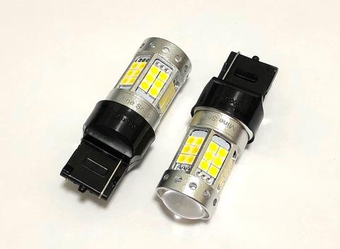 [満足の輝度 1000ルーメン] 3030 LED 42pcs/1000LM/ T20・7440(シングル)ピンチ部違い(WX3X16D)ホワイト(6000K)
