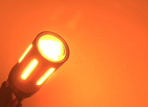 S25(シングル)ハイフラキャンセラー内蔵 LEDウインカーバルブ・橙(アンバー)180°ピン(BA15S)150°ピン角違い(BAU15S)12V車専用