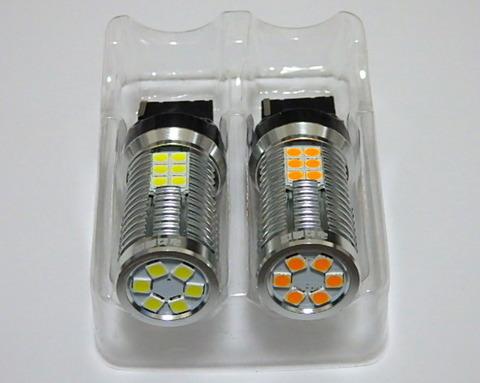 [超高輝度 1000ルーメン] T20/7440(シングル)Epistar 3030monster LED/1000LM(白・橙)