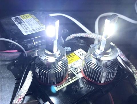 D2S・D2R/純正交換用 LEDヘッドライト/8600ルーメン・6000K/12V車用(車検対応)