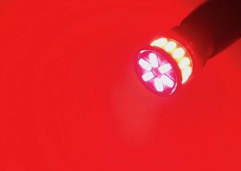 T10/monster 3014 H.L LED(20pcs) 320LM/レッド(赤)2個セット [T10究極の輝度]