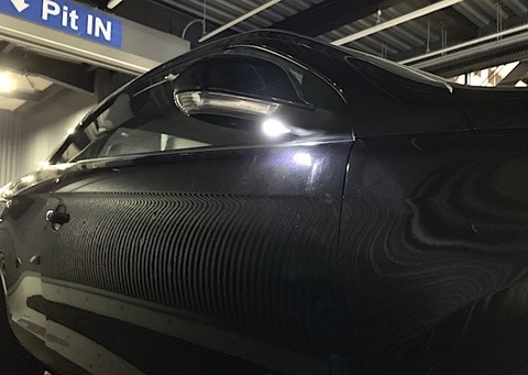 フォルクスワーゲン イオス/LEDドアミラーウエルカムランプ(サイドミラー) VW EOS(1F)
