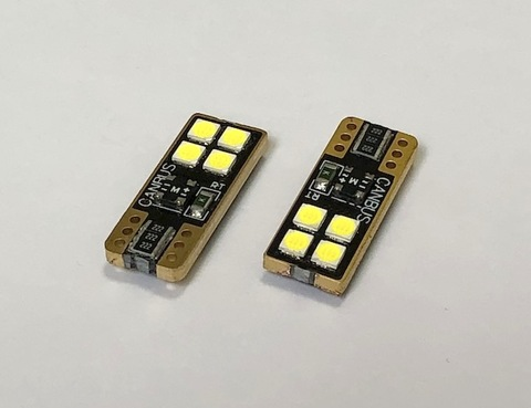 T10/Epistar 3030 monster LED(4pcs)片面発光タイプ/340LM/CANBUS キャンセラー内蔵/2個セット