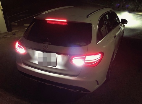 メルセデスベンツ Cクラス S205・ステーションワゴン/バック(リバース)ランプ/3020monster LED・1000LM/Benz-C S205 ステーションワゴン(前期・後期)
