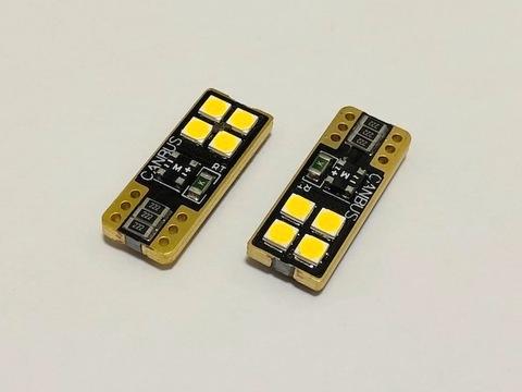[レトロ電球色 4000K] T10/Epistar 3030 monster LED(4pcs)片面発光タイプ/340LM/CANBUS キャンセラー内蔵/2個セット [レトロ電球色 4000K]