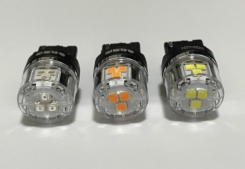 T20・7440(シングル)/ウルトラ 3030 LED(15pcs) 900LM/ノーマル・ピンチ部違い兼用/2個セット(白・橙・赤)12V車用