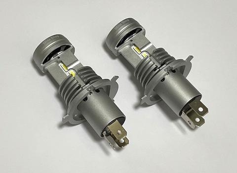 [一体型ポン付け] LEDヘッドライト H4(Hi/Lo)/LED 7035 C.S.P/8000lm(6000K)12V車用(車検対応)