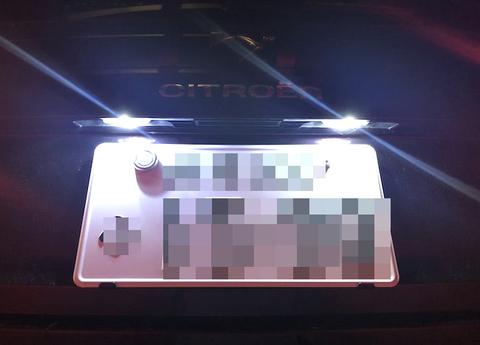 シトロエン DS4/Epistar 3030 Power LEDライセンスランプ/CITROËN DS4・B7C5F0##