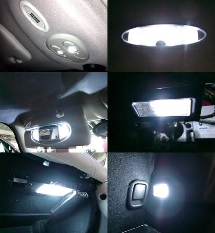 BMW MINI/LEDルームランプ(13個フルセット)R50・R53 ONE/Cooper/Cooper S/前期・後期