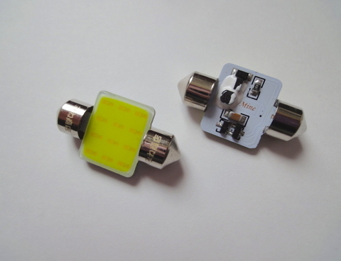 T10 x 31mm/3W POWER COB LED (17mm x 14mm) ホワイト/6000K