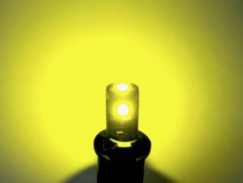 T10/Epistar 3030 monster LED(3pcs)/300LM/CANBUS キャンセラー内蔵/ゴールドイエロー(レモン色)2個セット [T10最強の光束]