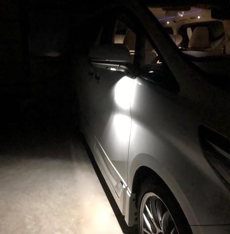 30系アルファード/ヴェルファイア/Epistar 3030 Power LED ドアミラーウエルカムランプ(前期・後期)※メーカーオプション専用