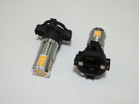 [強烈な輝度 2000ルーメン] Epistar 3030 LED/2000LMアンバー(橙)CANBUSキャンセラー内蔵/PY24W(PYA121)