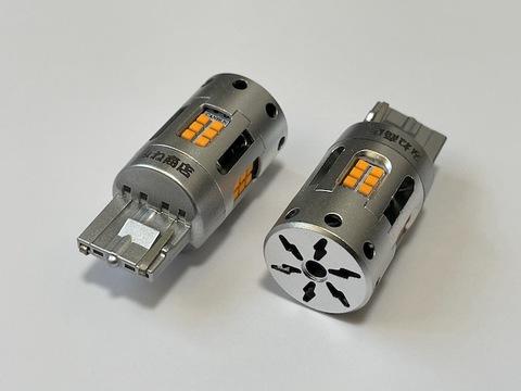 LEXUS NX(前期)ハイフラキャンセラー内蔵 LEDウインカーバルブ(リア 2個セット)AGZ10/15・AYZ10/15 レクサスNX