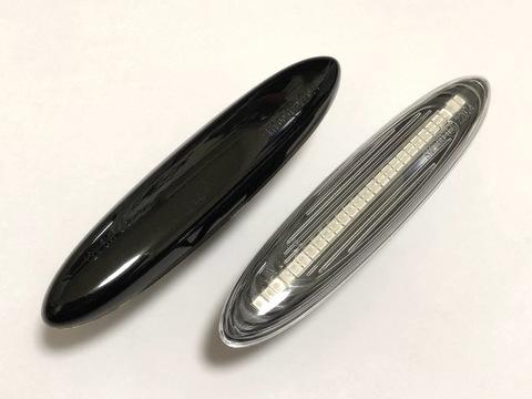 レクサスGS 190・前期/LEDサイドマーカー/smd(27pcs) ブラック&クリア//LEXUS GS190系(前期)