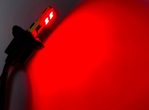 T10/Epistar 3030 monster LED(4pcs)片面発光タイプ/330LM/CANBUS キャンセラー内蔵/レッド(赤)2個セット [T10最強の光束]
