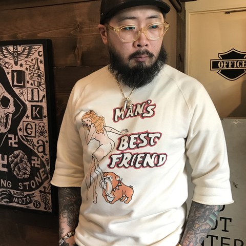 "1/2 SLEEVE SWEAT ""Best Friend"""
